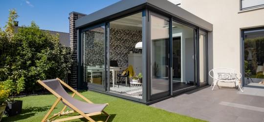 La veranda classique sans volets roulants