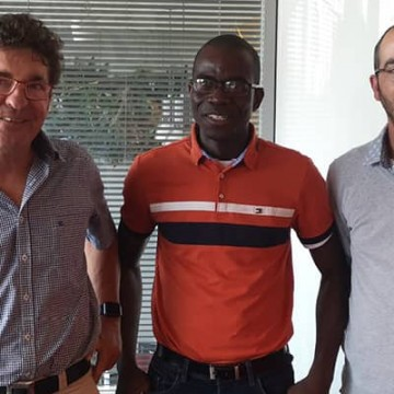 Portrait d'Anselme Koffi, réfugié politique