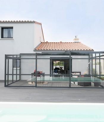 L'abri de terrasse télescopique