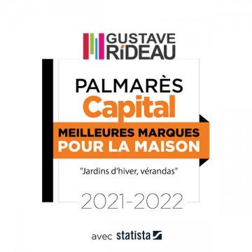 Gustave Rideau, de nouveau classé dans le palmarès Capital «les meilleures marques pour la maison 2021-2022» !